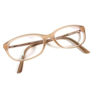 Burberry Beige Glasses Gold Tone Detail